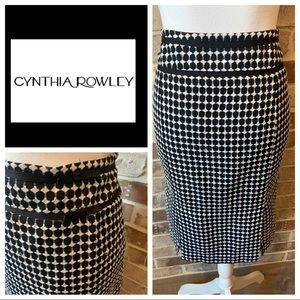 Cynthia Rowley Black/White Pencil Skirt